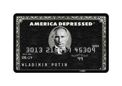#57 untuk Design American Express Black Card similar copy oleh DarinaVasileva