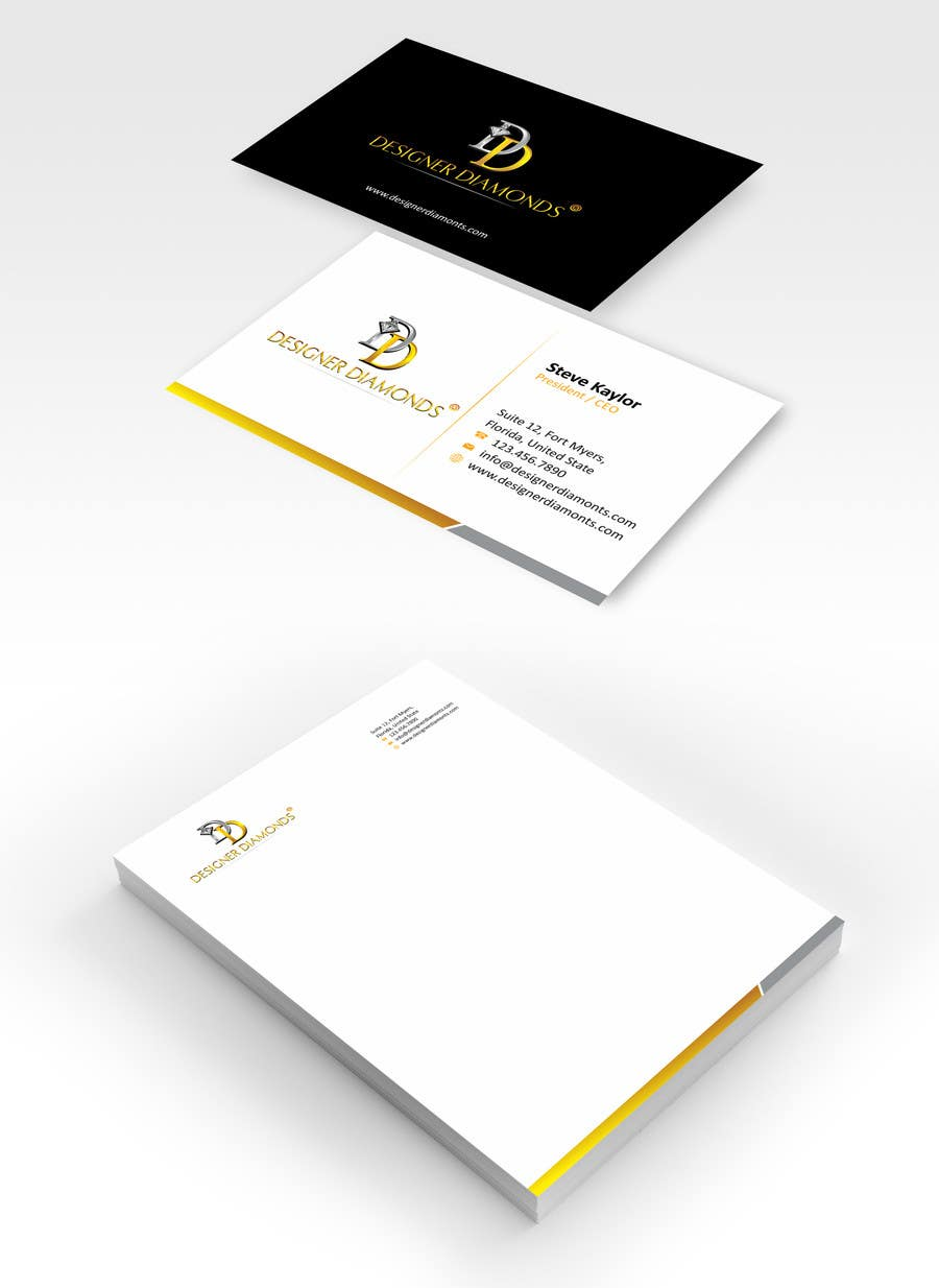 #4 for Design some Stationery for a Jewelery Company (Letterhead/Envelope/Business Card) by ezesol
