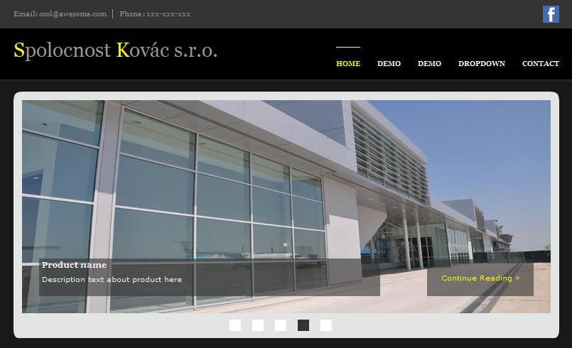 #2 for Web design for glass machine company by piratica