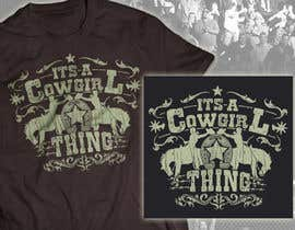 #19 untuk Design a T-Shirt for Cowgirl Grunge design oleh milanlazic