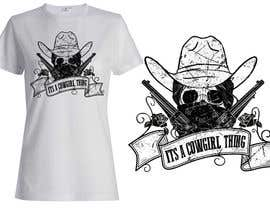 #34 untuk Design a T-Shirt for Cowgirl Grunge design oleh griffindesing