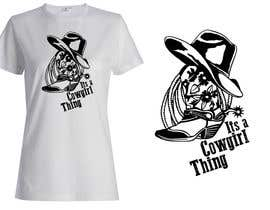 #38 untuk Design a T-Shirt for Cowgirl Grunge design oleh griffindesing