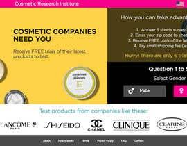 #62 untuk Design a Website Mockup for Cosmetic Research Institute oleh amineatlassi