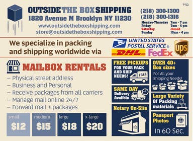 #9 untuk FLYER DESIGN: Shipping Store Services with Coupons oleh yaris196