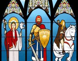 elinavarro tarafından Fantasy illustration: stained glass windows için no 15