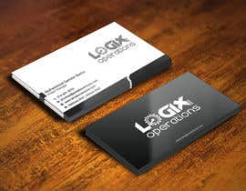 gohardecent tarafından Design a sleek business card for Logix Operations için no 28