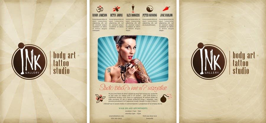 Inscrição nº                                         3                                      do Concurso para                                         Design a Flyer for Ink Gallery