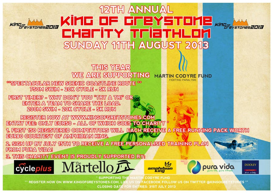Konkurrenceindlæg #3 for Design a Flyer for a triathlon