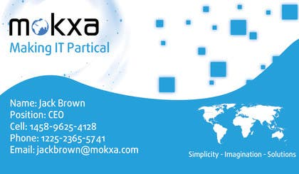 #20 for Design some Business Cards for Mokxa Technologies LLC by camsdhd01