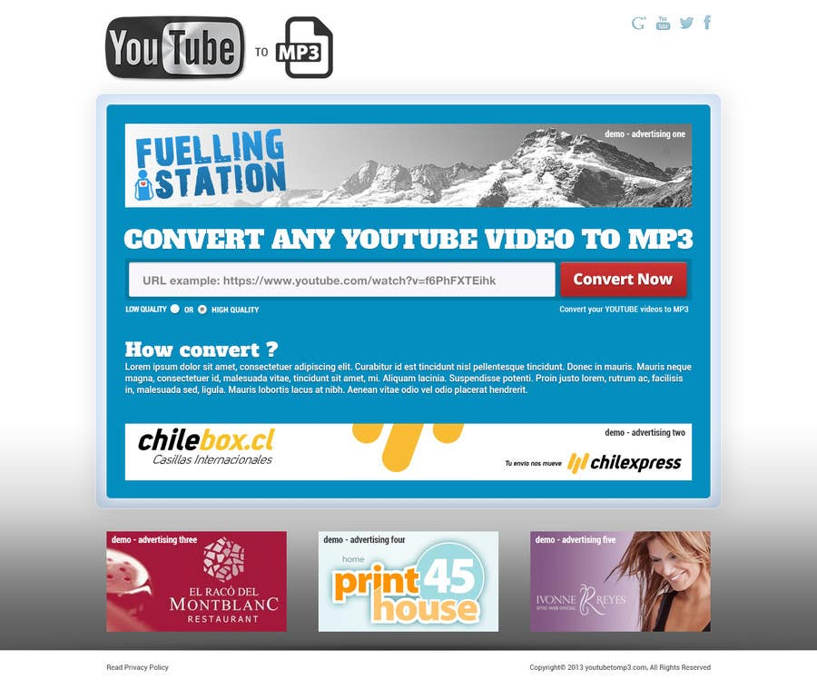 #40 for Youtube to MP3 Converter Website by hipnotyka