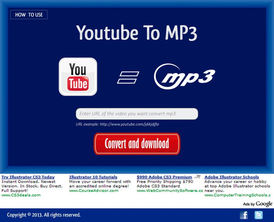 #38 for Youtube to MP3 Converter Website by macper