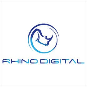 #14 untuk Redesign a Logo for Rhino Digital -- 2 oleh faisalmasood012