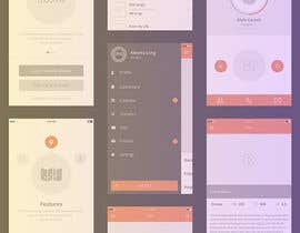 #17 untuk Design an app mock up for a home screen oleh wildpanther92