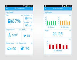 #1 untuk Design an app mock up for a screen that shows real time vehicle data oleh mrvitia93