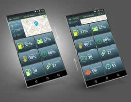 #20 untuk Design an app mock up for a screen that shows real time vehicle data oleh shobuj3d