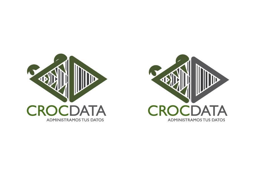 Penyertaan Peraduan #123 untuk Logo for CrocDATA a website for barcodes