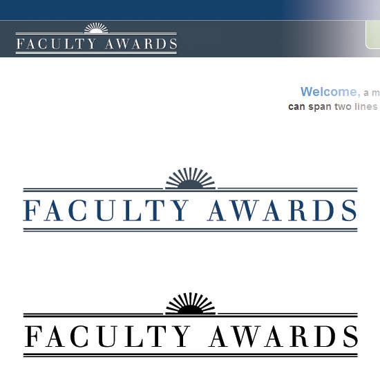 #8 for Design a logo for Faculty Awards professor competition by debbypeetam