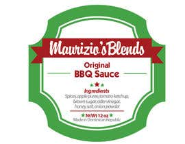 #11 untuk Design one label for sauce bottles oleh amywang91