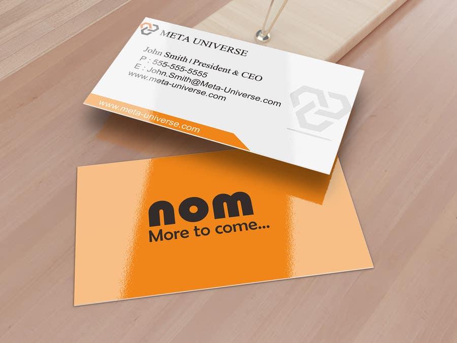 Entry 59 By Bernardinus27 For Design Some Business Cards For App