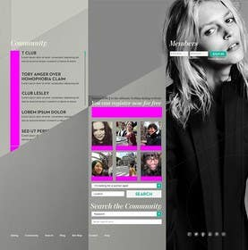 #1 untuk Design a Website Mockup oleh bouchtiba23