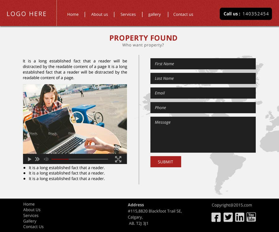 Entry #3 by princerae2010 for Multipurpose Landing-Page template ...