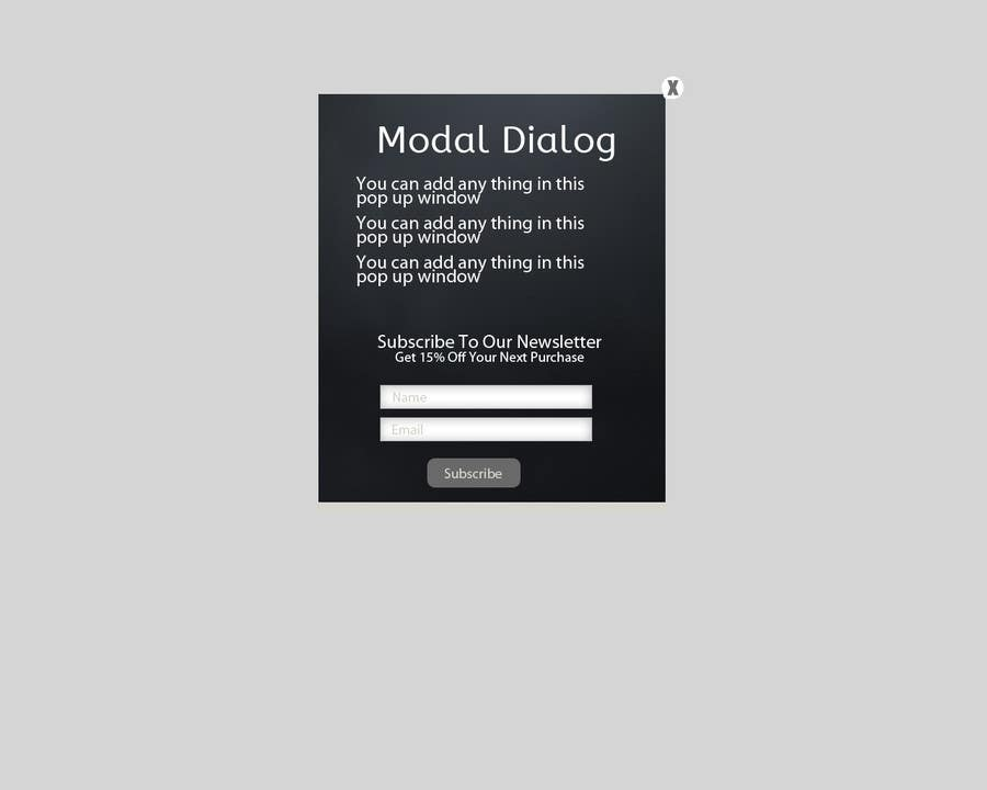 #8 for Simple Modal for Volusion website by Shumaila27