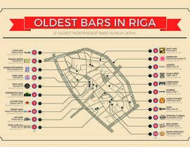 artnash tarafından Design an infographic-style map with oldest bars in Riga için no 2