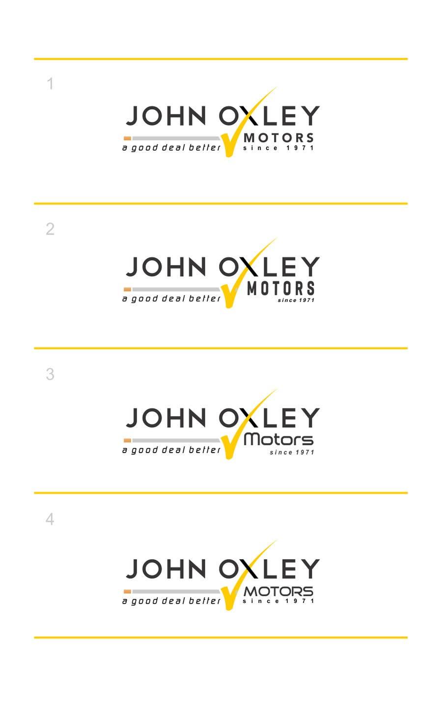 #574 for Design a Logo for John Oxley Motors by timedsgn