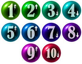 #263 untuk Create a set of glass orbs with numbers oleh umamaheswararao3