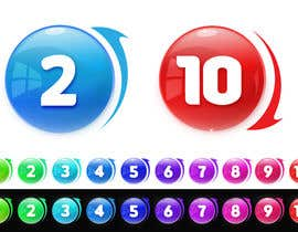 #200 untuk Create a set of glass orbs with numbers oleh vickysmart