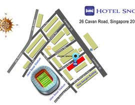 #13 untuk Draw a location map of my hotel for printing oleh lysenkozoe