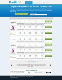 #3 for Create a Layout/Design for PayDay Loan Comparison Website by kosmografic