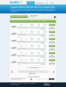 #10 for Create a Layout/Design for PayDay Loan Comparison Website by kosmografic