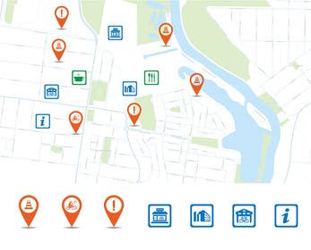 #45 untuk Design some safety icons for a map on our website oleh khadkamahesh07