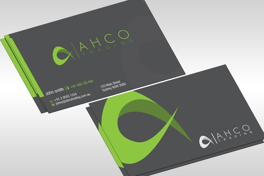 #48 for Ahco Trading - Business Card & Letterhead Template by jobee