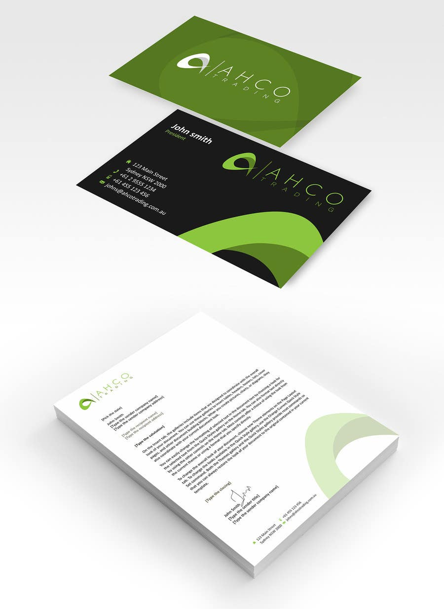 Proposition n°37 du concours Ahco Trading - Business Card & Letterhead Template