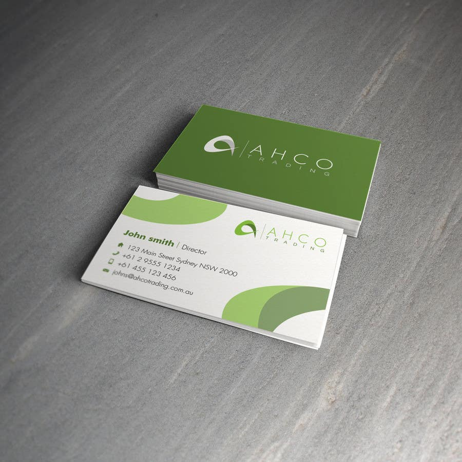Proposition n°10 du concours Ahco Trading - Business Card & Letterhead Template