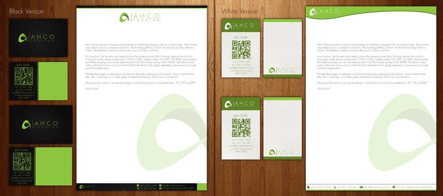 Inscrição nº 8 do Concurso para Ahco Trading - Business Card & Letterhead Template