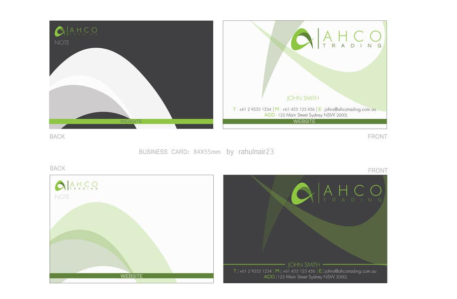 Proposition n°17 du concours Ahco Trading - Business Card & Letterhead Template