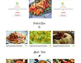 #16 untuk Design order page for food delivery website oleh zaxsol