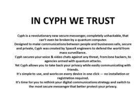 Asturias09 tarafından Write a captivating slogan and description for secure messenger Cyph için no 13