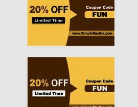 #24 untuk Design a 20% OFF coupon oleh Shrey0017