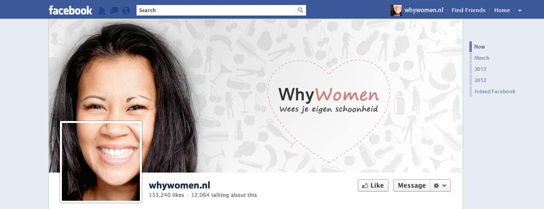 #25 for Design a Facebook landing page for whywomen.nl by jakuart
