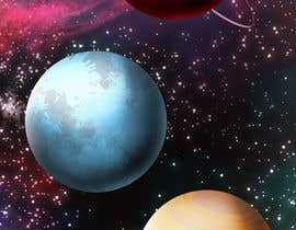 Dibujadora tarafından Looking for an artist to design a deep space game background and some planets. için no 19