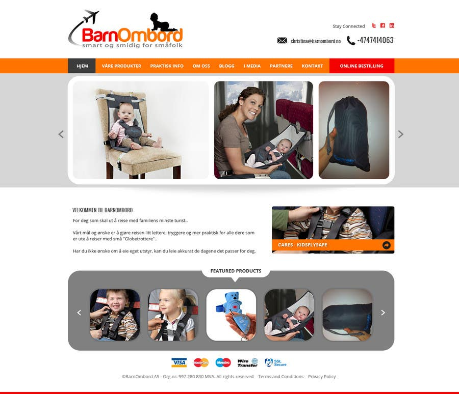 #2 for Create a Wordpress Mockup for BarnOmbord by Pavithranmm