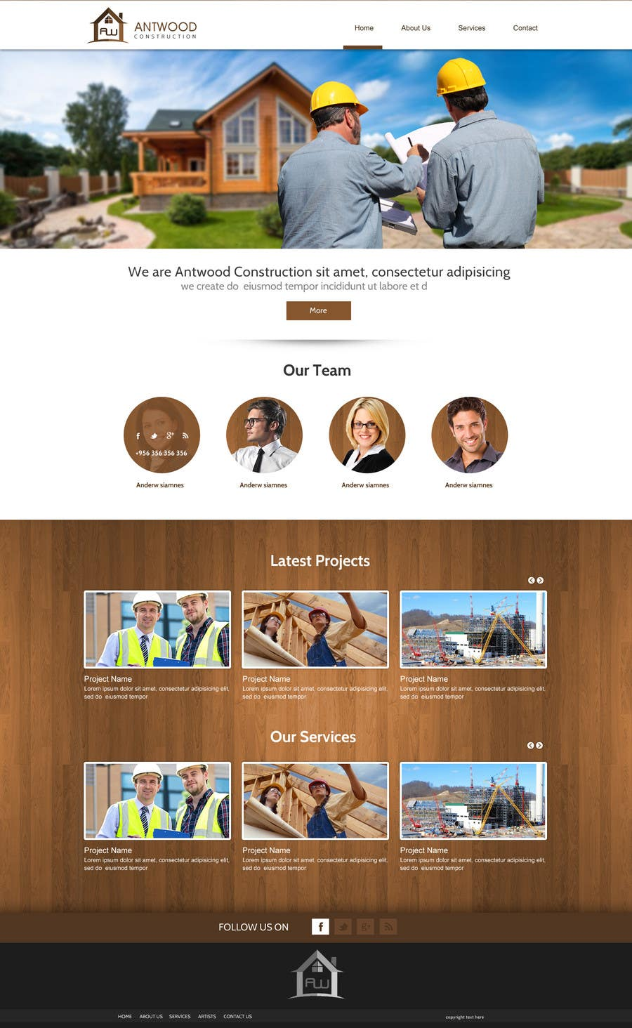 Contest Entry #14 for Build a Website for Antwood Construction