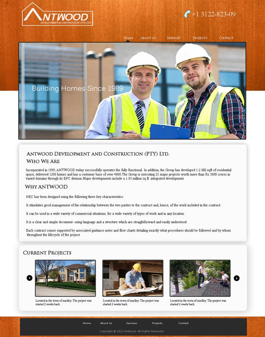 #12 for Build a Website for Antwood Construction by surendartech