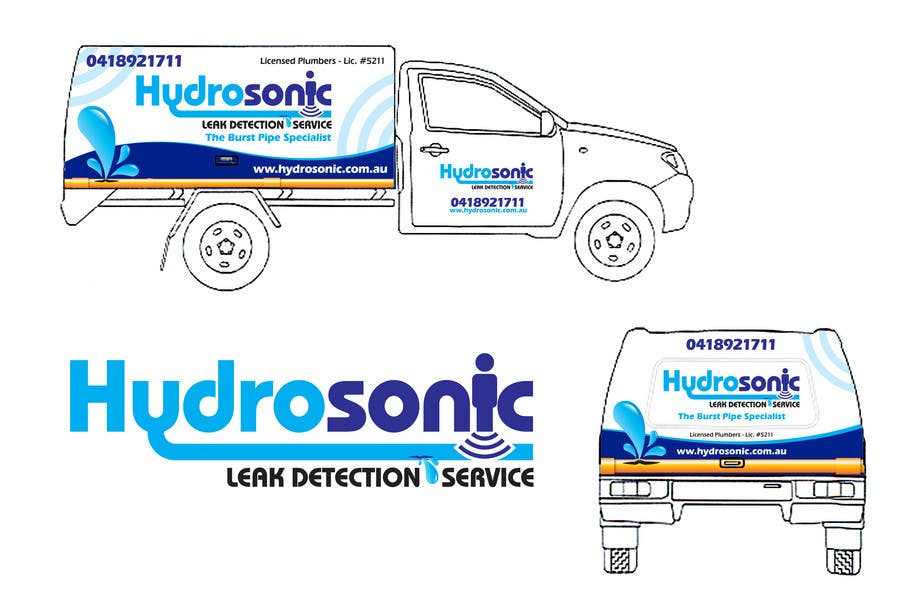 Konkurrenceindlæg #114 for Graphic Design for Hydrosonic Leak Detection Service