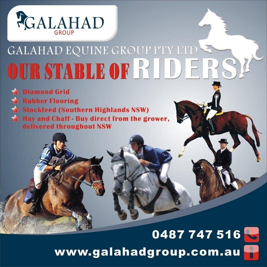 Inscrição nº 34 do Concurso para Graphic Design for Galahad Equine Group Pty Ltd