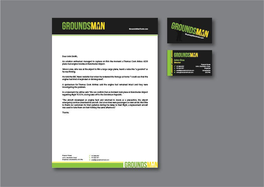 Penyertaan Peraduan #22 untuk Design some Stationery for Groundsman, cards, letter heads and email footers